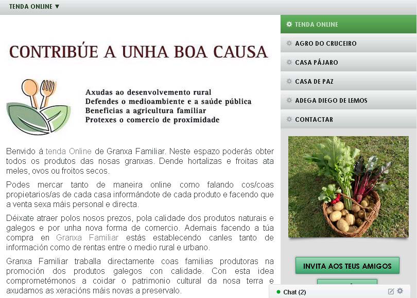 Tenda Online de Granxa Familiar